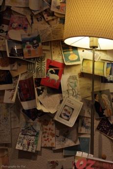 中央区銀座 月光荘画材店 店内に小さなカフェ
